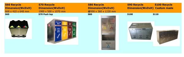 S/S Recycle Bins